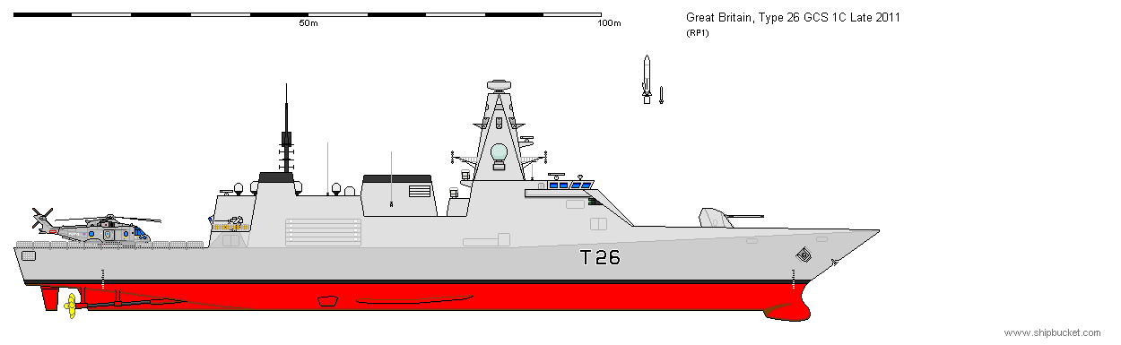 type 26 frigate diagram